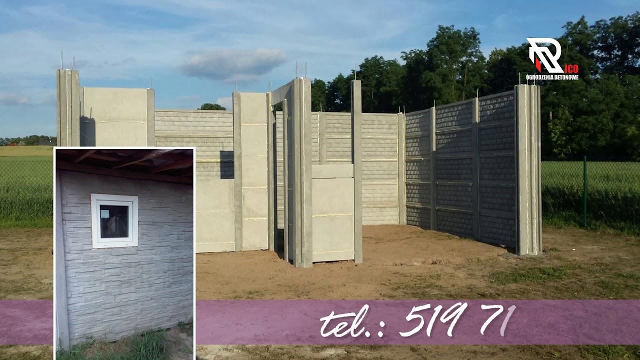 Wszystkie nowe RICO produkcja, montaż ogrodzeń, płyt betonowych, wiat, garaży BE37