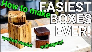 HOW TO MAKE SIMPLE WOOD BOXES