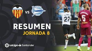 Resumen de Valencia CF vs Deportivo Alavés (2-1)