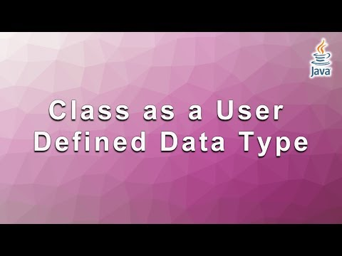 Mastering Java: Class as a User Defined Data Type