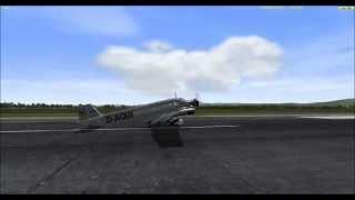 Vehicle Simulator Junkers 52 Landing