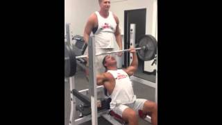 MILITARY PRESS 225 for 19 reps