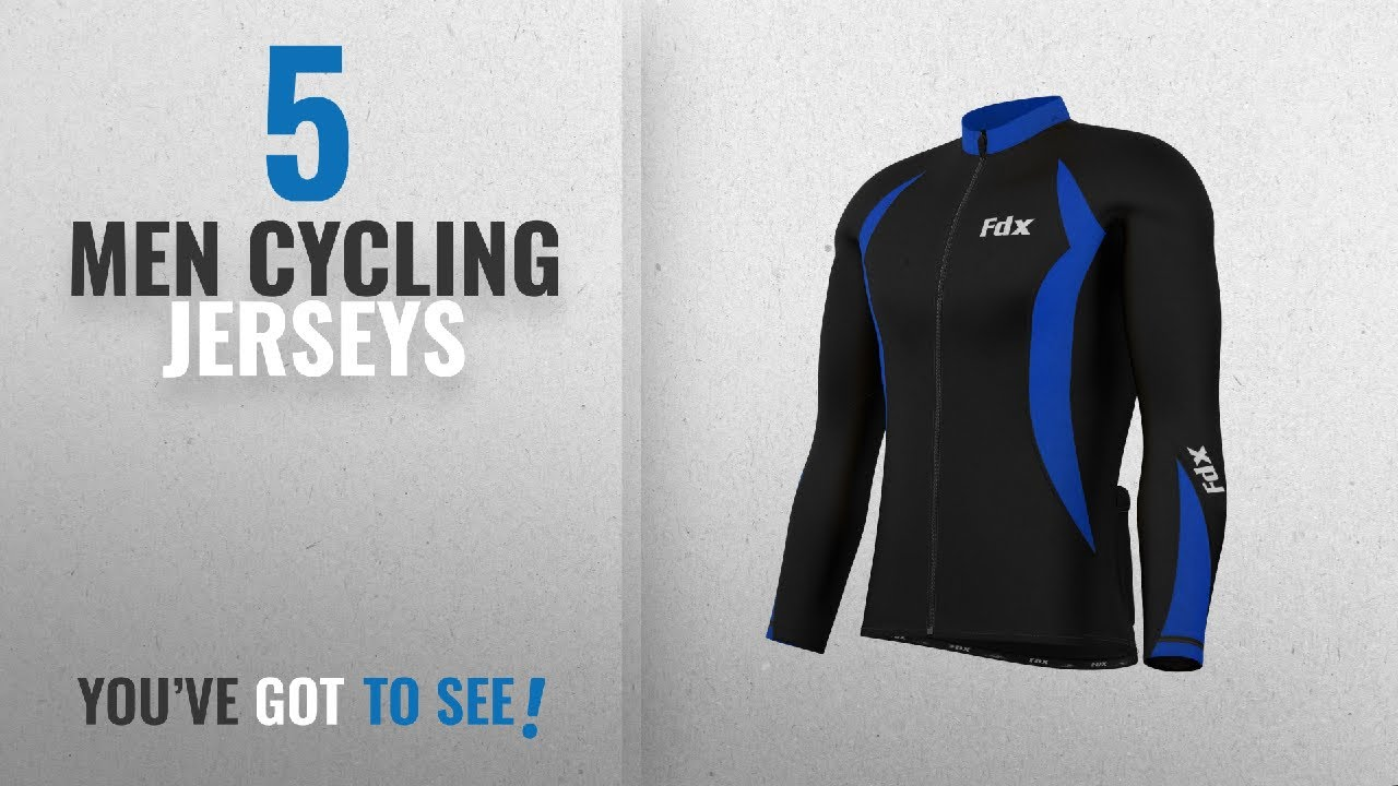 Top 10 Men Cycling Jerseys  2018   FDX Mens Cycling Jersey Full sleeve  Winter Thermal Cold Wear f1a347a27