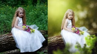 Photoshop CC Tutorial - Fantasy Look Photo Effect Editing  Change Background