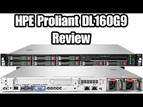 HPE Proliant DL160G9 обзор, memory upgrade, ILO installation