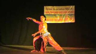 Amulya Balabantaray performs the Odissi dance piece,