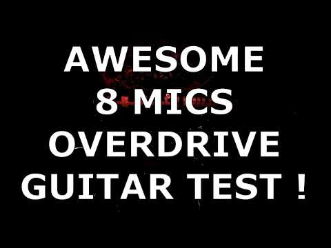 Recording 2 Electric Guitars With 8 Microphones ( mic / guitar test )