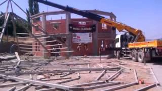 Uygur Cemevi Çelik Çatı Montajı