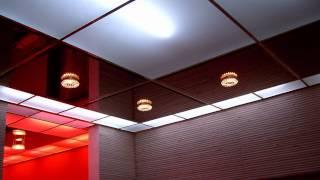 видео Стеклянные потолки для ванной комнаты: делаем подвесные стеклянные потолки