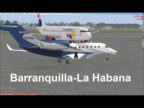 [FSX cessna CitationX] Barranquilla-La Habana /IVAO/