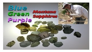 Blue, green, purple sapphires! @ Blaze n Gems, El Dorado bar in Helena Montana( Mining America Ep29)