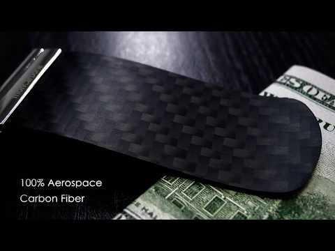 monCarbone TenSion Carbon Fiber Money Clip