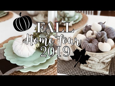 FALL HOME TOUR 2019 | FARMHOUSE KITCHEN | NEUTRAL FALL DECOR