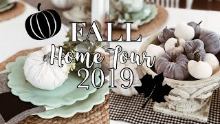 FALL HOME TOUR 2019 | FARMHOUSE KITCHEN | NEUTRAL FALL DECOR