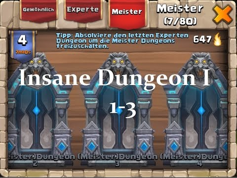 Castle Clash: Schloss Konflikt: #1(Insane) Meister Dungeon 1/ 1-3 100%