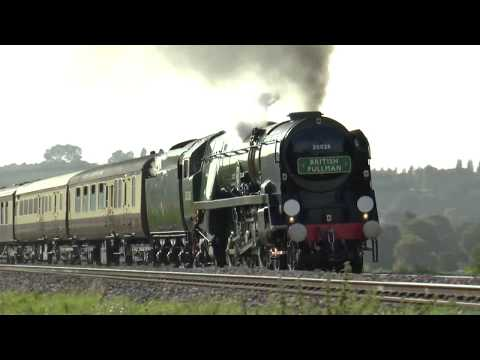 35028 `Clan Line` VSOE with Whistle (Doplar) @ Newton st Loe ,06-09-17