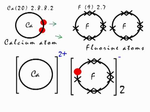 Bohr Diagram For Calcium Chloride This Is How The Ionic Bond Forms In Calcium Fluoride Caf2