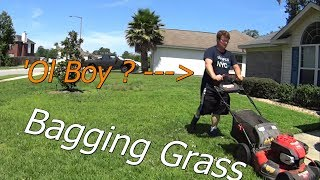 Cutting Grass with a Bag Attachment on TroyBilt 20 Push Mower