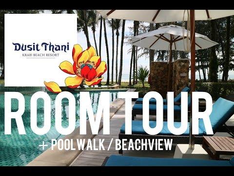 DUSIT THANI 5* Star Hotel Resort Krabi - ROOMTOUR Luxury Pool