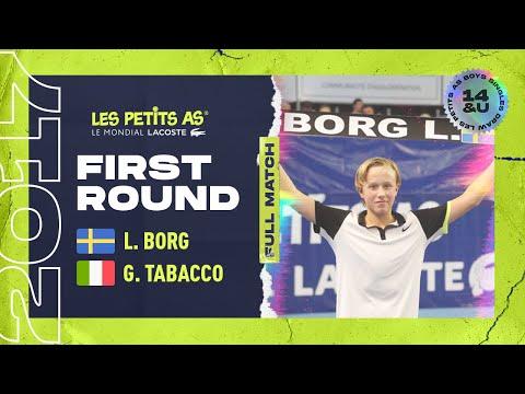 Leo BORG (SWE) vs Giorgio TABACCO (ITA) - 1st round main draw - Les Petits As 2017