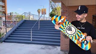 Skating Hollywood High With A Walmart Board!