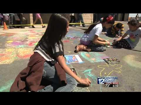 Mary Buren Elementary School Holds Chark Art Extravaganza