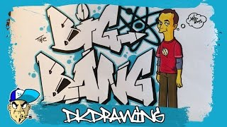 How to draw graffiti letters big bang & sheldon cooper simpsonized