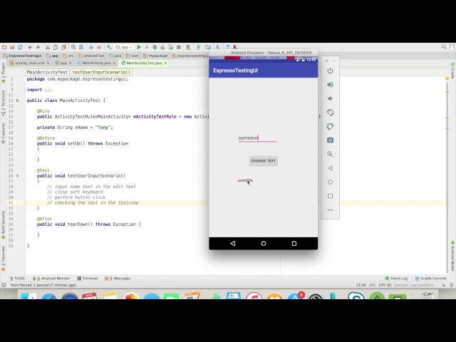 Android app development for beginners - 33 - Android - Automate UI tests using Espresso