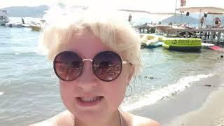 ОТДЫХ В Турции МАРМАРИС в Сентябре Море Пляж Цены Отель 5 Blue Bay Platinum Не смогла занять лежак