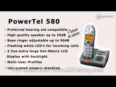Amplicom PowerTel 580 Cordless Amplified Telephone With TAM