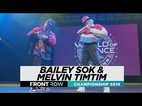 Bailey Sok & Melvin Timtim  FRONTROW  World of Dance Championship 2019  WODCHAMPS19