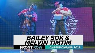 Bailey Sok & Melvin Timtim | FRONTROW | World of Dance Championship 2019 | #WODCHAMPS19