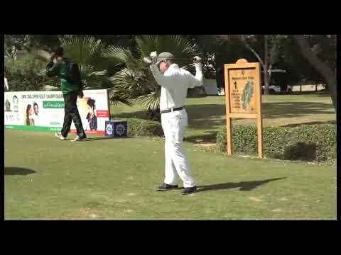 Chief of Naval Staff Pakistan Admiral Zafar Mahmood Abbasiplaying Golf
