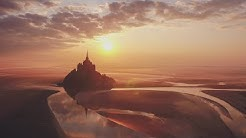 Mont Saint Michel 'confinement' Lockdown 2020 from the drone.