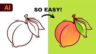 Adobe Illustrator Beginner Tutorial: Create a Vector Peach from Sketch (HD) screenshot 2