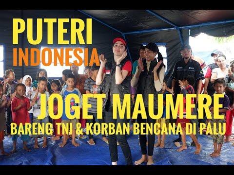 PUTERI INDONESIA JOGET MAUMERE BARENG TNI DAN PENGUNGSI