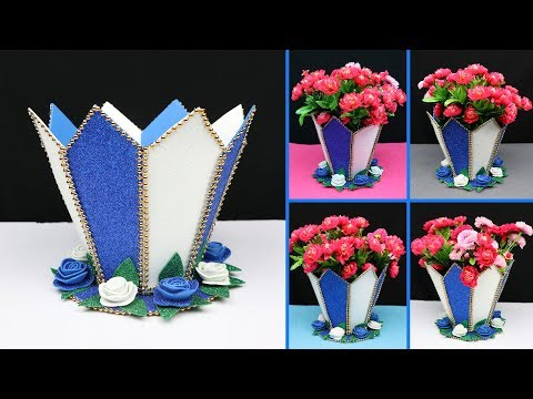 How to make a beautiful flower vase for home decoration | Home Decoration Ideas