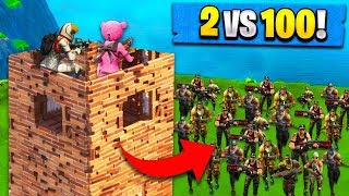 2v100 FORTNITE CHALLENGE! (Duo's in Squads)