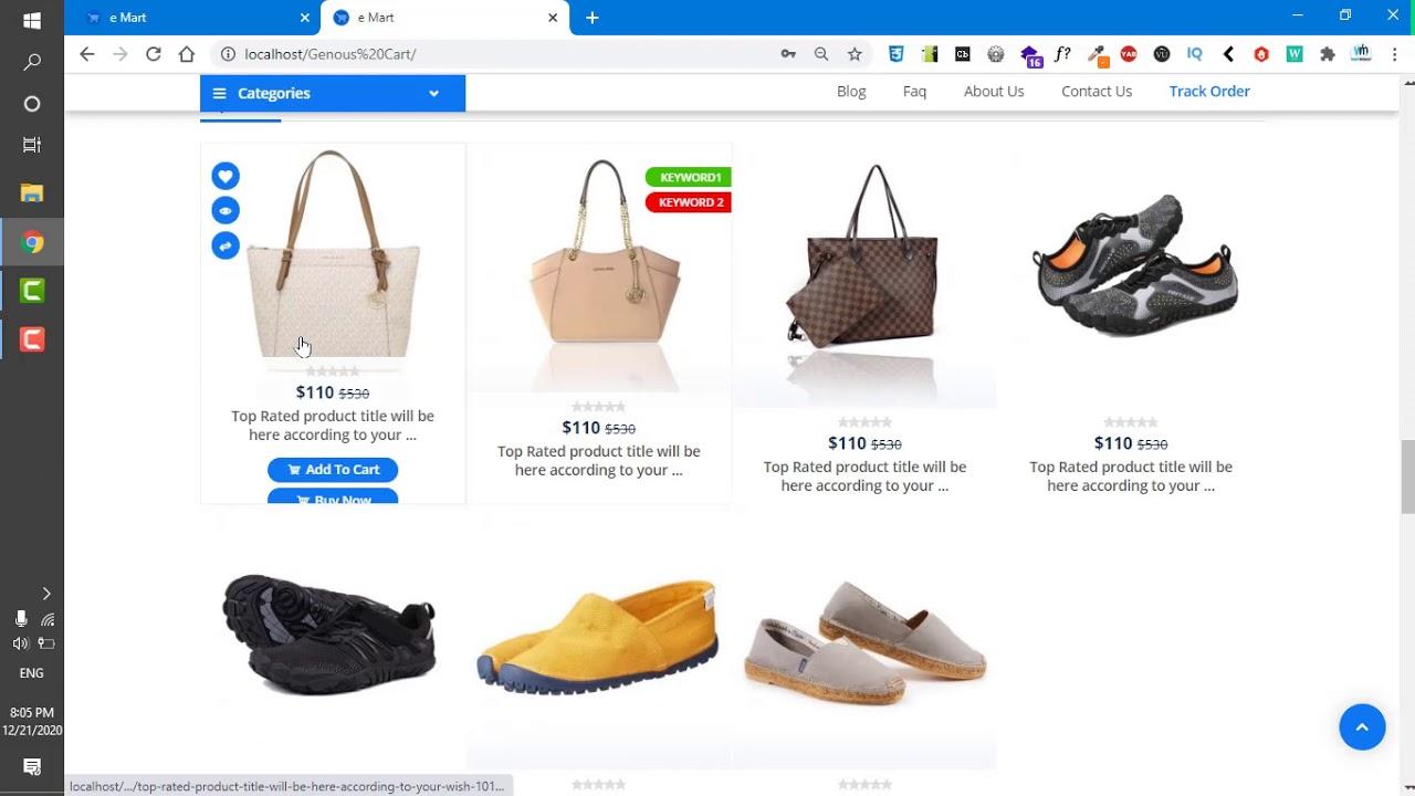 Website setting in genius Cart ecommere website