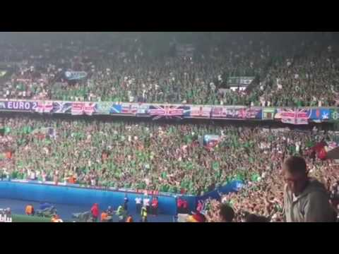 """Northern Ireland Fans Singing """"Will Grigg's On Fire"""" Against Germany in Parc des Princes! 21.06.2016"""