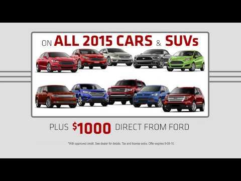 Get 0% APR for 72 months Plus up to $1000 Ford Bonus Cash.