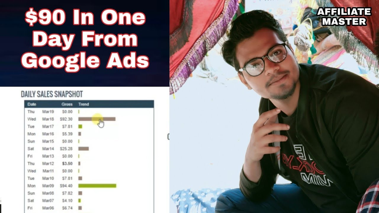 $92 In One Day From Google Ads ClickBank Affiliate Marketing