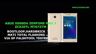 CARA FLASHING ASUS ZENFONE MAX 3 ZC520TL X008DA VIA SP FLASHTOOL1