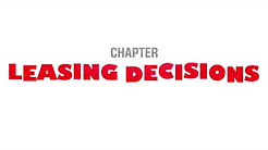 Leasing Decisions