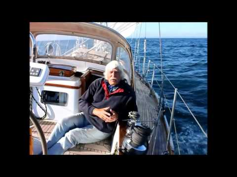 Tom Cunliffe sailing across the English Channel