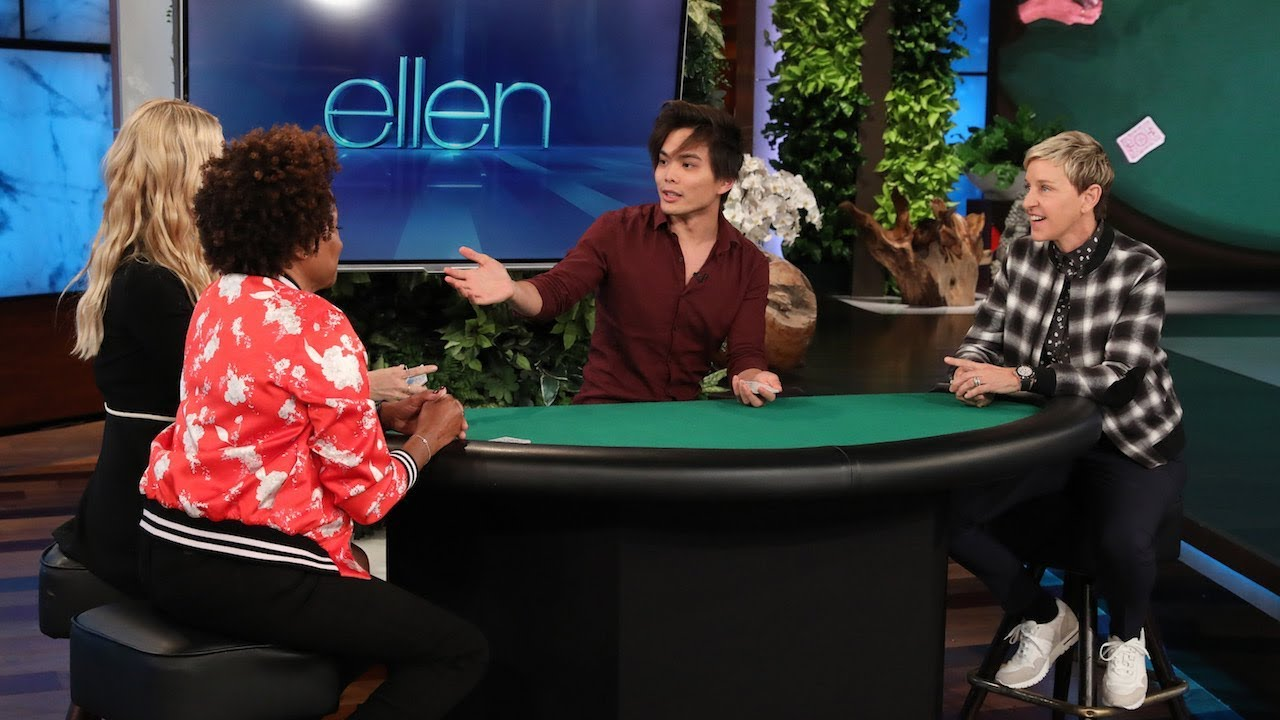'America's Got Talent' Winner Deals Up an Amazing Trick for Ellen, Wanda Sykes, and Beth Behrs