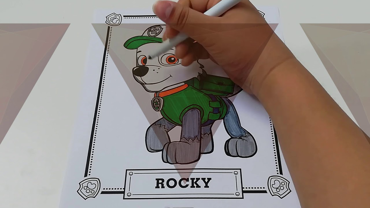 Paw Patrol coloring | Rocky - YouTube