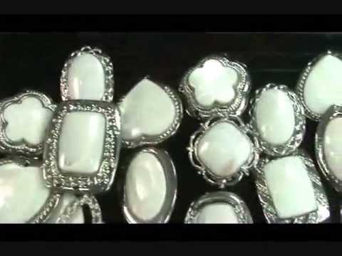 Wholesale lots jewelry large white sea shell silver plated rings wholesalesarong.com
