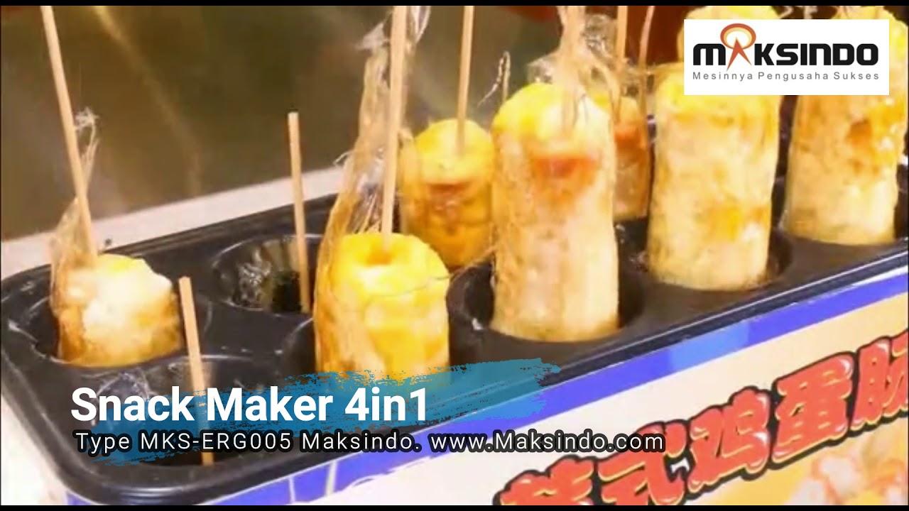 Mesin Sosis Telur Egg Roll Snack Maker 4in1 Terbaru Maksindo Youtube Signora