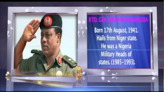 GRAPHIC ON RTD. GENERAL IBRAHIM BABANGIDA.